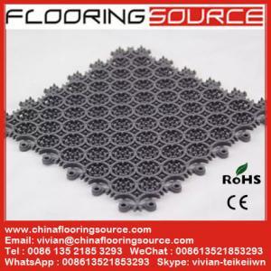 China Building Entryway Mats Modular Floor Mat PVC Tiles Outdoor Scraper Dust Control and Drain Water Wet Area Mat wholesale