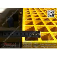 China 1.22 X 3.44m Fiberglass Reinforced Plastic Molded Grating | ABS Certificated wholesale