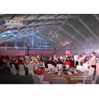 China 1000 Seater Aluminum Transparent Roof Wedding Marquee Tent With White Color Decoration For Sale wholesale