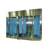 China Stainless Steel 304 Sterile Garment Storage Cabinet For Hospital Clean Room on sale