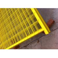 "China Canada standard Construction Temporar Fencing Panels 6'x9.6' mesh 2""x4""x3.2mm powder coated yellow 1.2""/30mm tubing wholesale"
