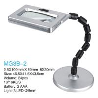China LED Lamp Folding Magnifying Glass / Table Top Magnifying Glass With Light wholesale