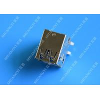 China Double Layers Female USB Micro Connector Type A Right Angle 8 Pin DIP Jack wholesale