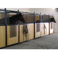 Buy cheap Prefabricated Powder Coated 2 Horse Stable Partitions With Bamboo Horse Boarding from wholesalers