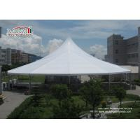 China Waterproof White Color High Peak Tents / Wedding Reception Tent For Outdoor Event Party wholesale