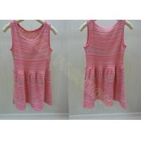 China Sleeveless Scoop Neck Girls Summer Dress / Strips Kids Holiday Sweater in Red wholesale
