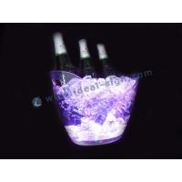 China  Round Wave Edged Ps Led Ice Bucket For Chill Wines With Rechargeable Battery  for sale