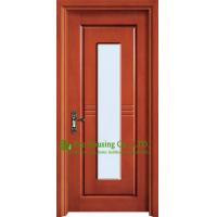 China Exterior Timber Veneer Wooden Door With Glass Insert,Exterior Wood Doors And Glass on sale
