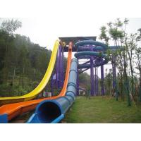 China Funny High Speed Swimming Pool  Water Slides For Holiday Resort Visitors on sale