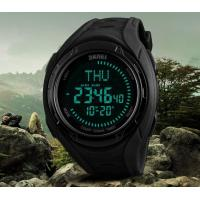China Skmei Multifunction 5 ATM Waterproof 40 City World Time Chronograph DST Compass Outdoor Men Sport Watches 1314 wholesale