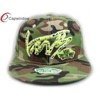 China 3D Embroidered Cotton Camouflage Baseball Hats Flat Brim Baseball Cap wholesale