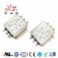 China 115V/250V 30A 3 Phase EMI Filter Three Wire Double Stage With CE / ROSH Certifications wholesale