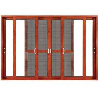 Quality Double Clear Indoor Sliding Glass Doors Blinds Anodized Aluminium for sale