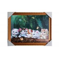 China Love Cat Image Lenticular 3d Pictures Decoration Craft Modern PS Frame For House wholesale