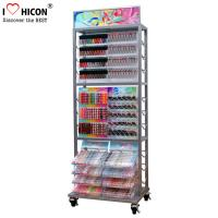 China Movable Metal Nail Polish Cosmetic Display Stand Clear Beauty Organizer wholesale