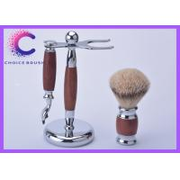 China Shaving gift set with silvertip badger shaving brush and rosewood handle wholesale