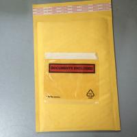 China Golden / Yellow Padded Envelopes With Documents Enclosed / Attached Pouch wholesale