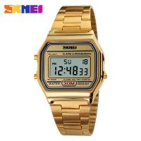 China Golden Nice Digital Watches Stainless Steel Strap Fashion Men wholesale
