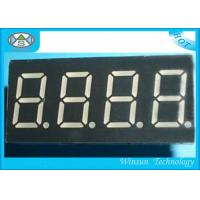 China Eco Friendly 4 Digit 7 Segment Led Digital Display With 0.8 Inch Height , SGS Certification wholesale