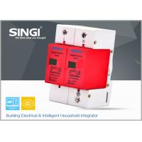 China Solar / DC lightning protection Surge Protector Device with 2 pole red frame wholesale