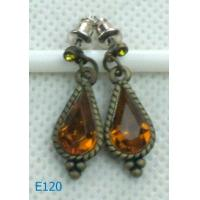China New style alloy ladies rhinestone dangle drop earrings E120 with custom design wholesale