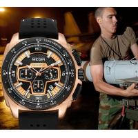 China MEGIR New 6 Hands Multifunction Military Chronograph Calendar Outdoor Sport Watchews Men Quartz Watch  2056G wholesale