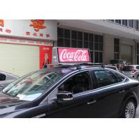 China IP65 Outdoor Mobile LED Screen Taxi Top Advertising Signs 5500 nits Brightness wholesale
