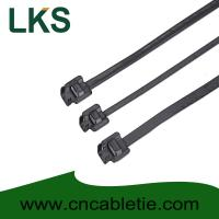 China LKS-610S PPA Coated Releasable Stainless Steel Cable Ties wholesale