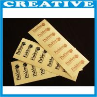 China Cheap adhesive fabric adhesive stickers label wholesale