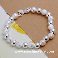 China hot wholesale custom made silver african beaded bracelets wholesale