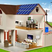 China Eco Friendly Off Grid Solar System LCD Display For Lights / Fan / LED Bulb on sale