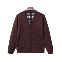 Quality Knitted Mens V Neck Shawl Collar Cardigan Jumper for sale