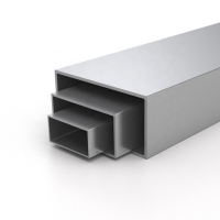 Quality 6063 T5 T6 Alloy Powder Coated Aluminium Hollow Section for sale