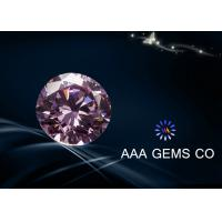0.2 CT Pink Moissanite Loose Stones In Size 3.25 MM Round Shape