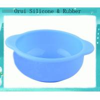 China Bright  blue silicone  containter for baby eating wholesale