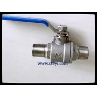 China RPTFE / PTFE / PEEK / PPL Seat Extend Body Stainless Ball Valve With Lock Hand wholesale