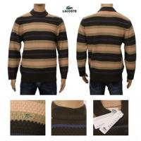 China Brand design lacoste men's strip knitted sweater cashmere sweater wholesale