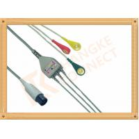 Generic AAMI 6 Pin ECG Patient Cable 3 Leads Snap IEC For Abbott Medical