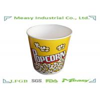 China 130OZ paper cup Popcorn Buckets Disposable Double PE Lined Greaseproof wholesale