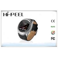 China Leather Strap Auto Recording Mobile Phone GSM Quad Band Watch Phone With Bluetooth wholesale