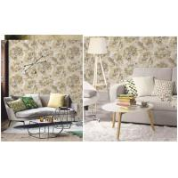 Quality Art  Flowers Designs  Non-woven Waterproof PVC Wallpaper For Bedroom for sale