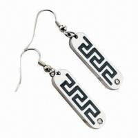 China Fashionable Drop Earrings with Blue Zircon, ODM and OEM Orders Available wholesale