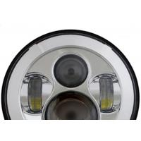 Quality 40W Jeep LED Headlights with High Low Beam Round 7 Inch H4 / H13 for sale