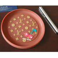 China Red round plastic coin tray Eco Friendly PVC loose coin tray With logo wholesale