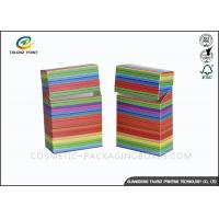 China Fancy Paper Cigarette Packaging Box Colorful Printing Cigarette Case / Cigarette Box wholesale