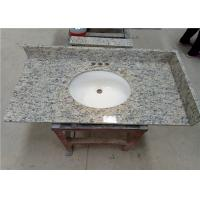 "Quality Santa Cecilia Integrated Vanity Tops 22"" X 36"" with 4"" side and black splashes for sale"