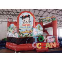 China Red 0.55mm PVC Inflatable Bouncer Combo Doll House Inflatable Bouncy Castle wholesale