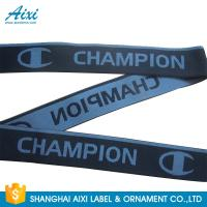 China Eco - Friendly Webbing Tape Jacquard Elastic Waistband With Custom Printed Logo wholesale