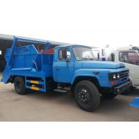 China Dongfeng long nose swing arms garbage truck/skip loader garbage truck for sale, hot sale! best price garbage truck on sale