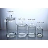 China different size glass candle jars with custom lid in stock on sale